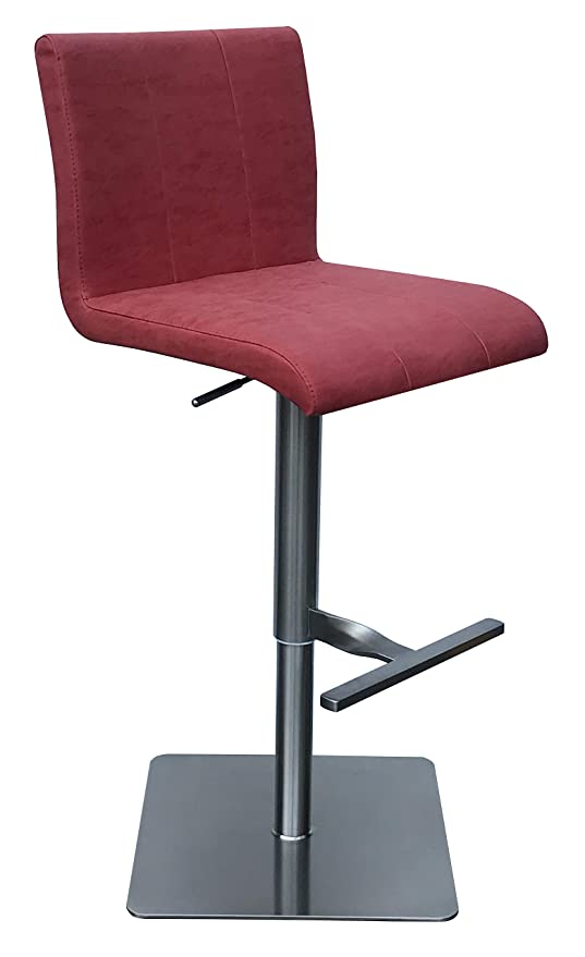 Admirable Barstools 4U Madrid 24 31 Adjustable Height Ruby Stainless Steel Bar Stool Caraccident5 Cool Chair Designs And Ideas Caraccident5Info