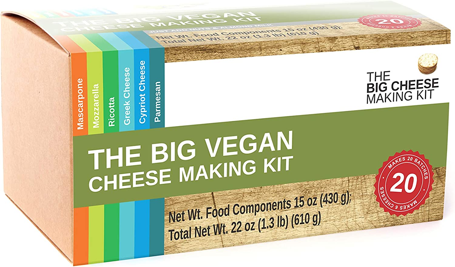 The Big Vegan Cheese Making Kit - Make 6 Dairy Free Cheeses in Around an Hour. It's The Perfect Plant Based Gift.