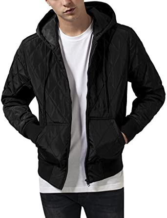 Urban Classics Hooded Big Diamond Quilt Jacket Chaqueta para ...