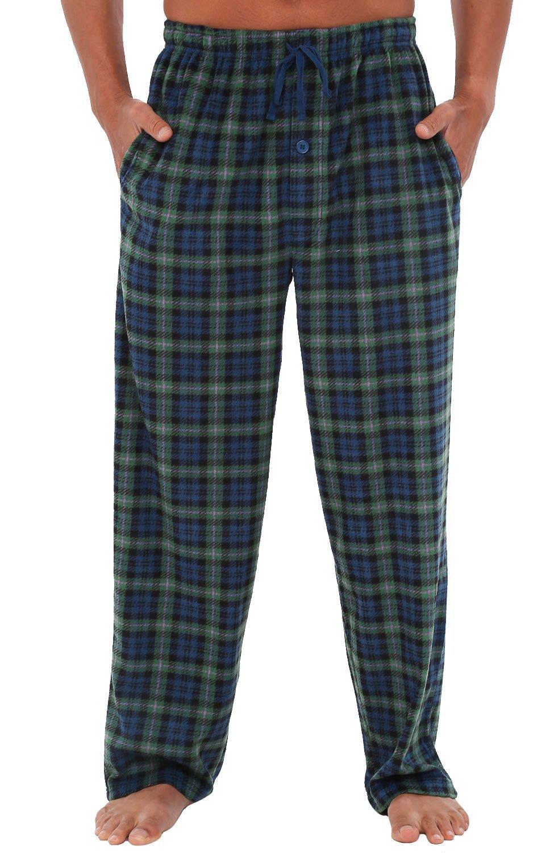 Alexander Del Rossa Mens Fleece Pajama Pants, Long Microfiber Pj Bottoms A0328