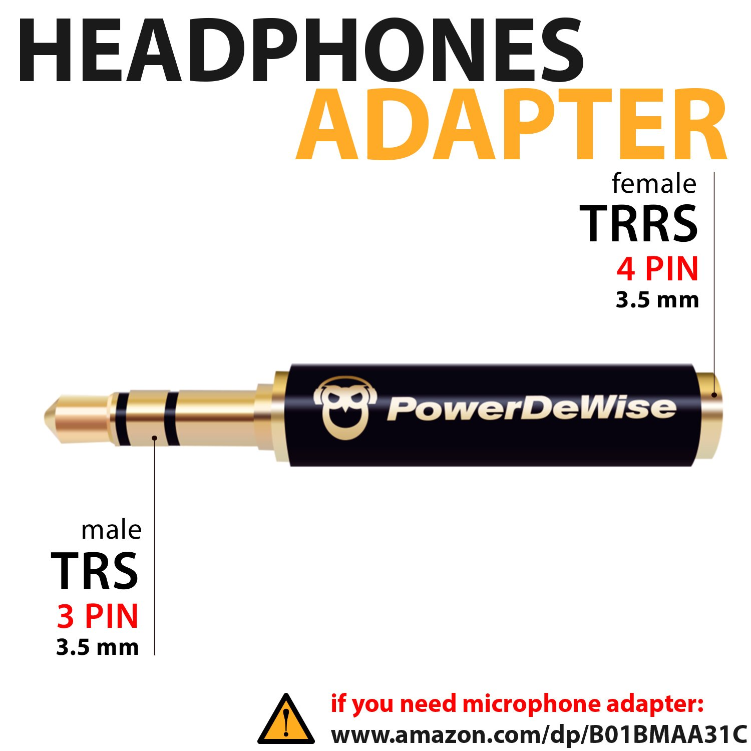 Headphone Adapter 35mm Trrs To Trs Headset Jack Wiring Diagram Free Picture Female Male