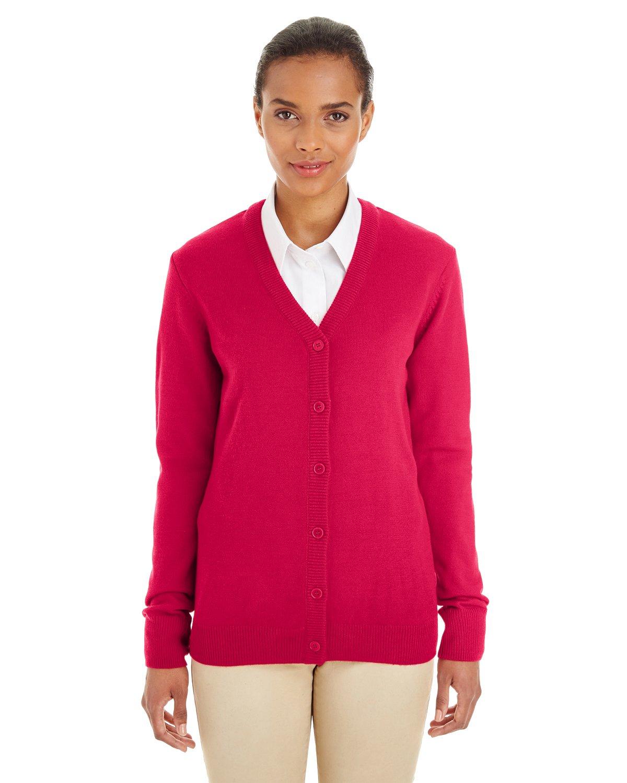 Harriton womens Pilbloc V-Neck Button Cardigan Sweater (M425W)