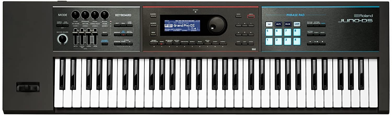Roland Lightweight, 61-note Synth-action Keyboard with Pro Sounds