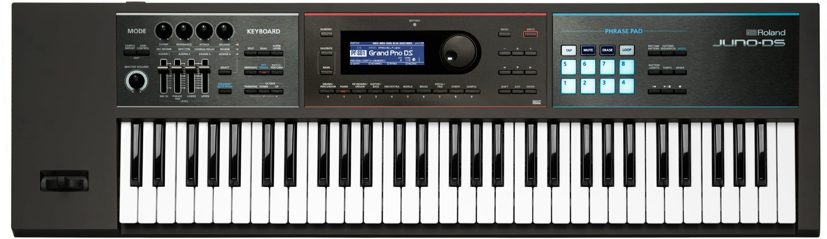 Roland Lightweight, 61-note Synth-action Keyboard with Pro Sounds (JUNO-DS61) by Roland
