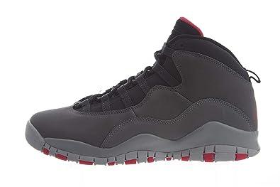 c9c07f8ffc6480 Jordan 10 Retro Dark Smoke Dark Smoke Grey Rush Pink-Black (GS)