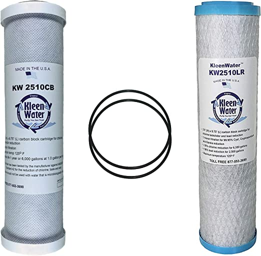 Brand Replacement Water Filters Set of 2 KleenWater Ionics GI1 /& GI2 Three Stage Reverse Omosis System Compatible Filters