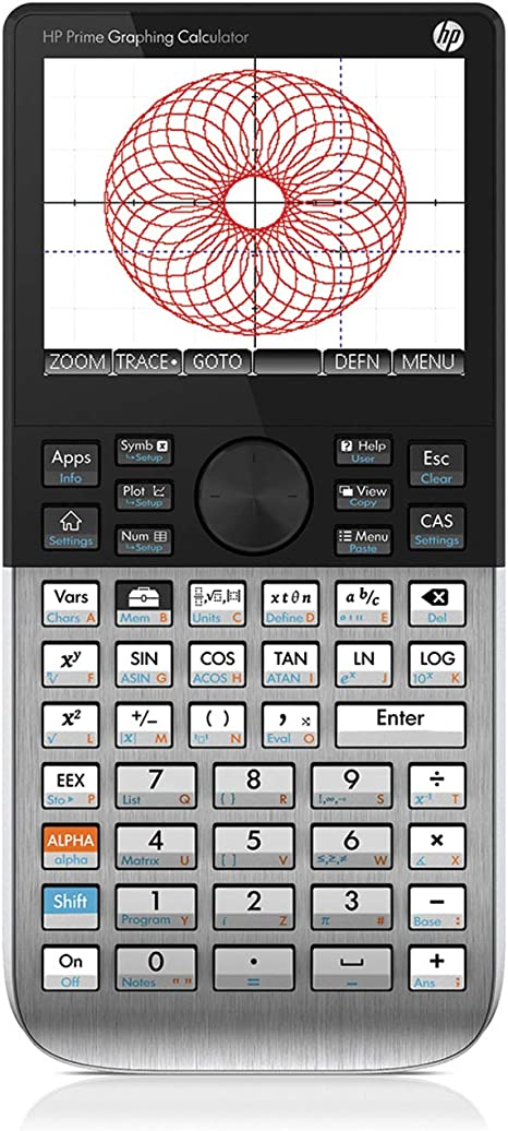 HP Prime - Calculadora (Escritorio, Calculadora gráfica, 33 dígitos, Flash, Batería, Negro, Plata): Amazon.es: Oficina y papelería