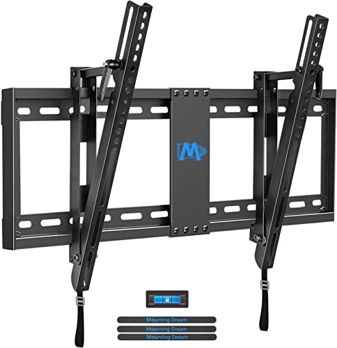 Mounting Dream Tilting TV Wall Mount for 42-70 inch TVs, Low Profile TV Mount Tilt with Max VESA 600x400mm Holds up to 132 lbs, TV Wall Mounts Tilt with 20 Degrees Fit for 16-24 inch Wood Studs