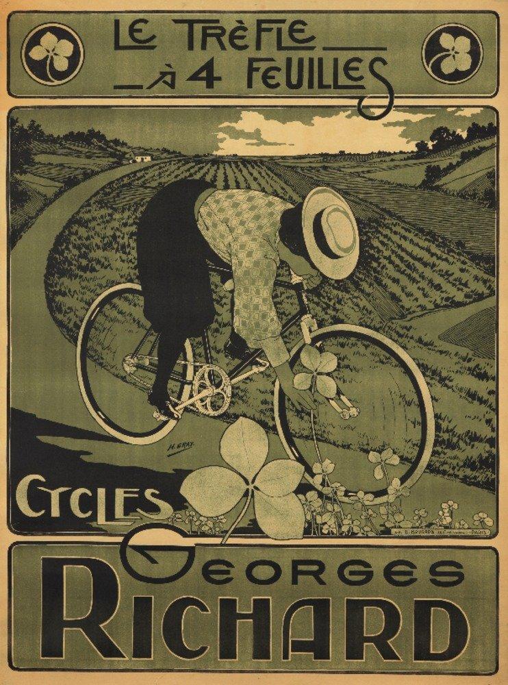 サイクルGeorgesリチャードヴィンテージポスター(アーティスト:グレー)フランスC。1895 36 x 54 Giclee Print LANT-73183-36x54 36 x 54 Giclee Print  B01M7TB9VI