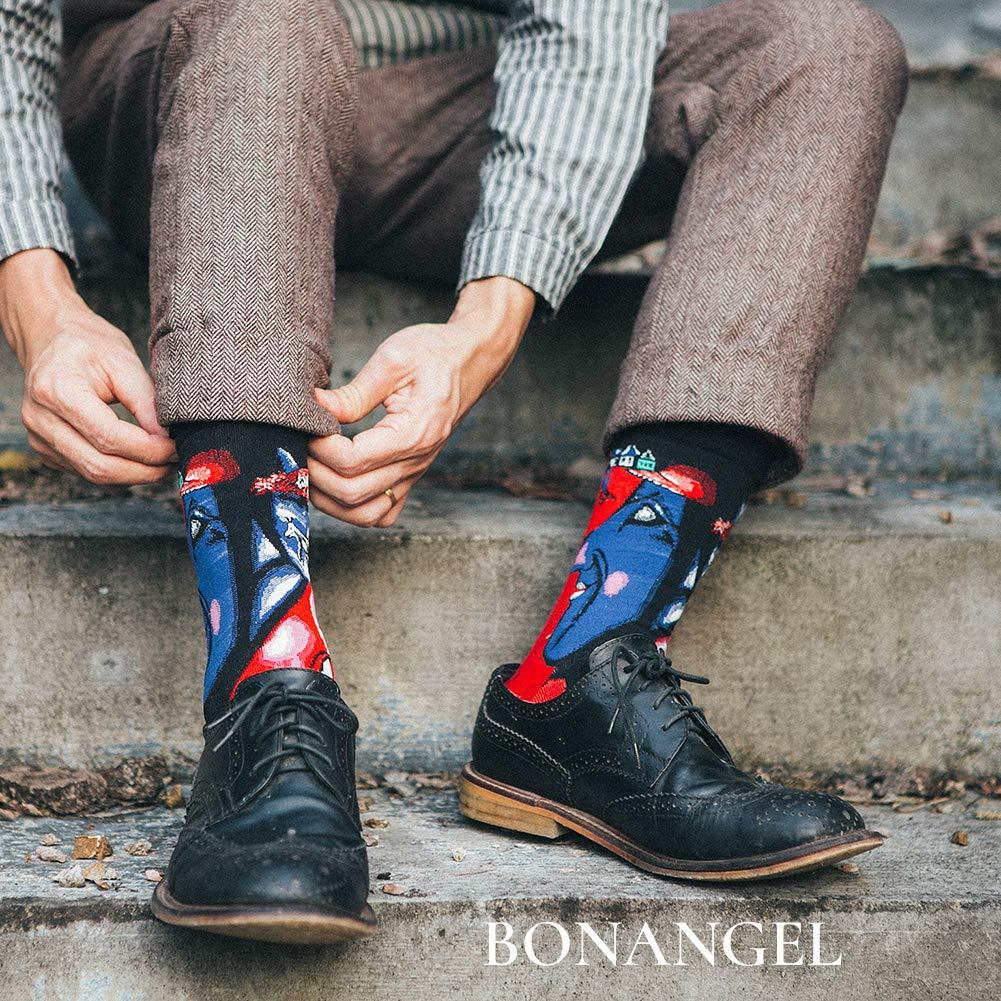 Amazon.com: Bonangel Calcetines de vestir divertidos y ...