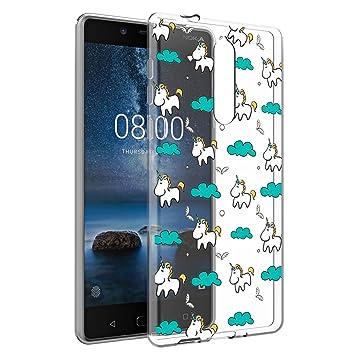 Eouine Funda Nokia 8, Cárcasa Silicona 3D Suave TPU Transparente ...