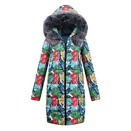 Linlink Mujeres Invierno Largo algodón señoras Parka Abrigo Encapuchado Chaqueta Acolchada Outwear: Amazon.es: Ropa y accesorios