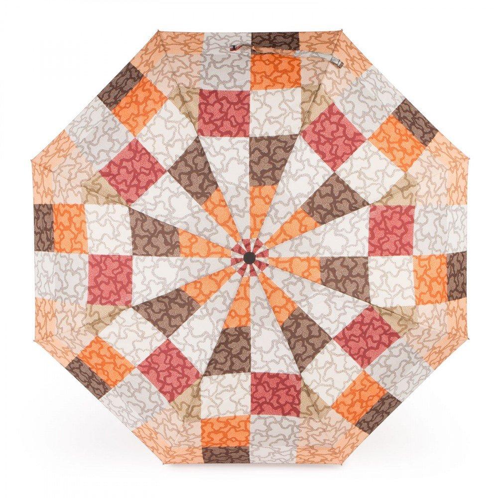 Tous Paraguas plegable Kaos Cuadrados en color naranja-marrón: Amazon.es: Zapatos y complementos