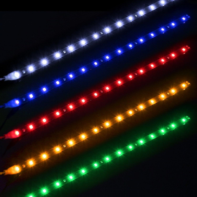 FORNORM Impermeabile 30cm Car Auto Flessibile LED Strip Light High Power 12V 15SMD LED Daytime Running Light Decorative Car DRL Bianca