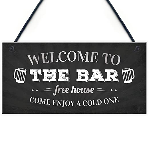 Mr.sign Welcome to The Bar Cartel de Pared Madera Placa ...