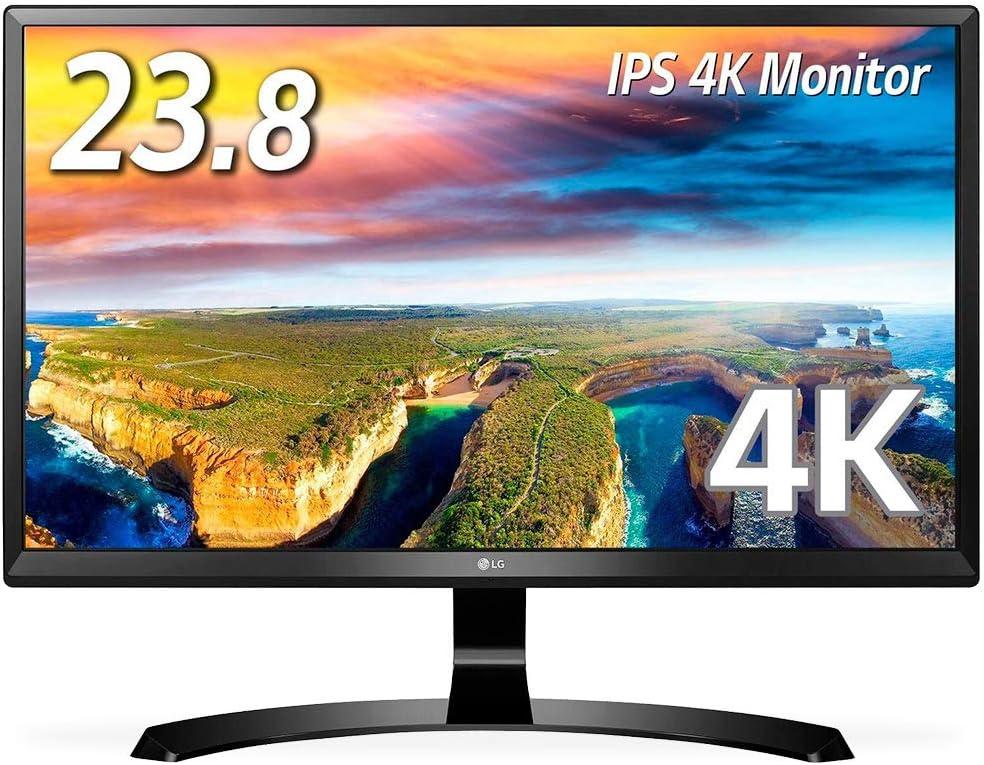 LG モニター ディスプレイ 24UD58-B 23.8インチ/4K(3840×2160)/IPS 非光沢/HDMI×2、DisplayPort/ブルーライト低減機能