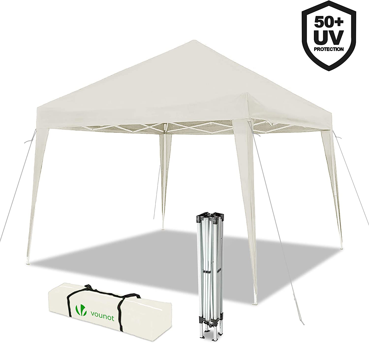 VOUNOT Gazebo Plegable Cenador 3x3 m Pabellon de Jardin, Impermeable y Pop Up, Blanco: Amazon.es: Jardín