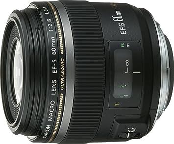 Amazon com : Canon 60mm f/2 8 EF-S Macro USM : Camera Lenses