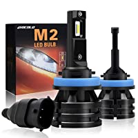 HOCOLO H8 H11 H9 -LED Headlight Bulbs Mini Size 10,000 Lumens Extremely Bright All-in-One Conversion Kit 6000K Cool White -(M2 Type, HOCOLO_H8_Fog/Low Beam)