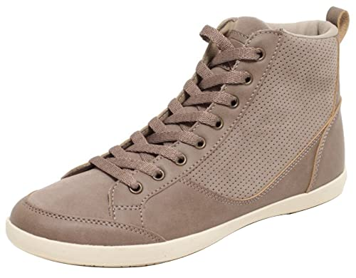 Damen Sneaker High Cut Schnürschuhe Schuhe Freizeitschuhe
