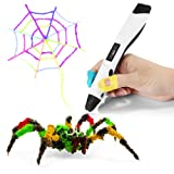 3D Printing Pen, Ailink 3D Doodling Pen With OLED Display, PLA/ABS/PCL Filament Supported for Kids and adults, 3D Modeling, Art Design - White