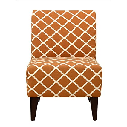 Charmant Elements North Accent Slipper Chair In Orange Pattern