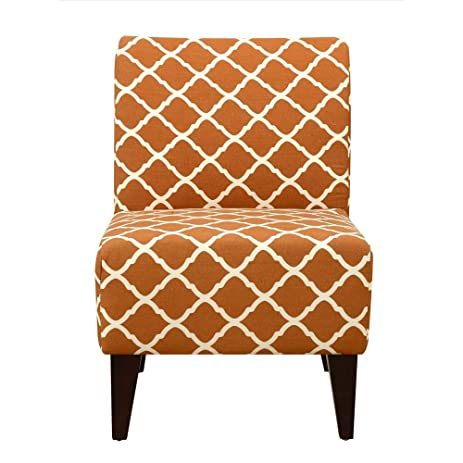 Great Elements North Accent Slipper Chair In Orange Pattern