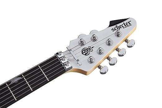 Amazon.com: Schecter 6 String DJ ASHBA Satin White 279: Musical Instruments