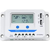 EPEVER® PWM VS-AU Serie Laderegler charge controller con LCD Dispaly USB conexión, VS1024AU (10A, 12V/24V)