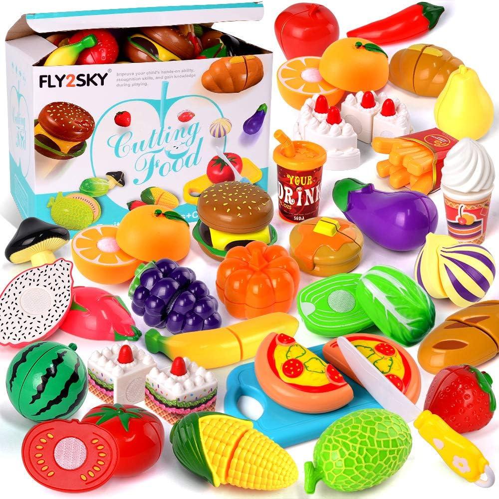 Food toy Felt fruits Fake Food Educational Toys Slices of red apples Montessori Pretend play food set