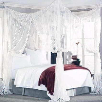 Amazon.com: Yimii 4 Corner Post Mosquito Princess Bed Canopy