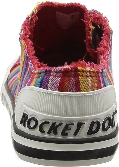 Rocket Dog Jazzin Eden Stripe Red Multi Womens Trainers