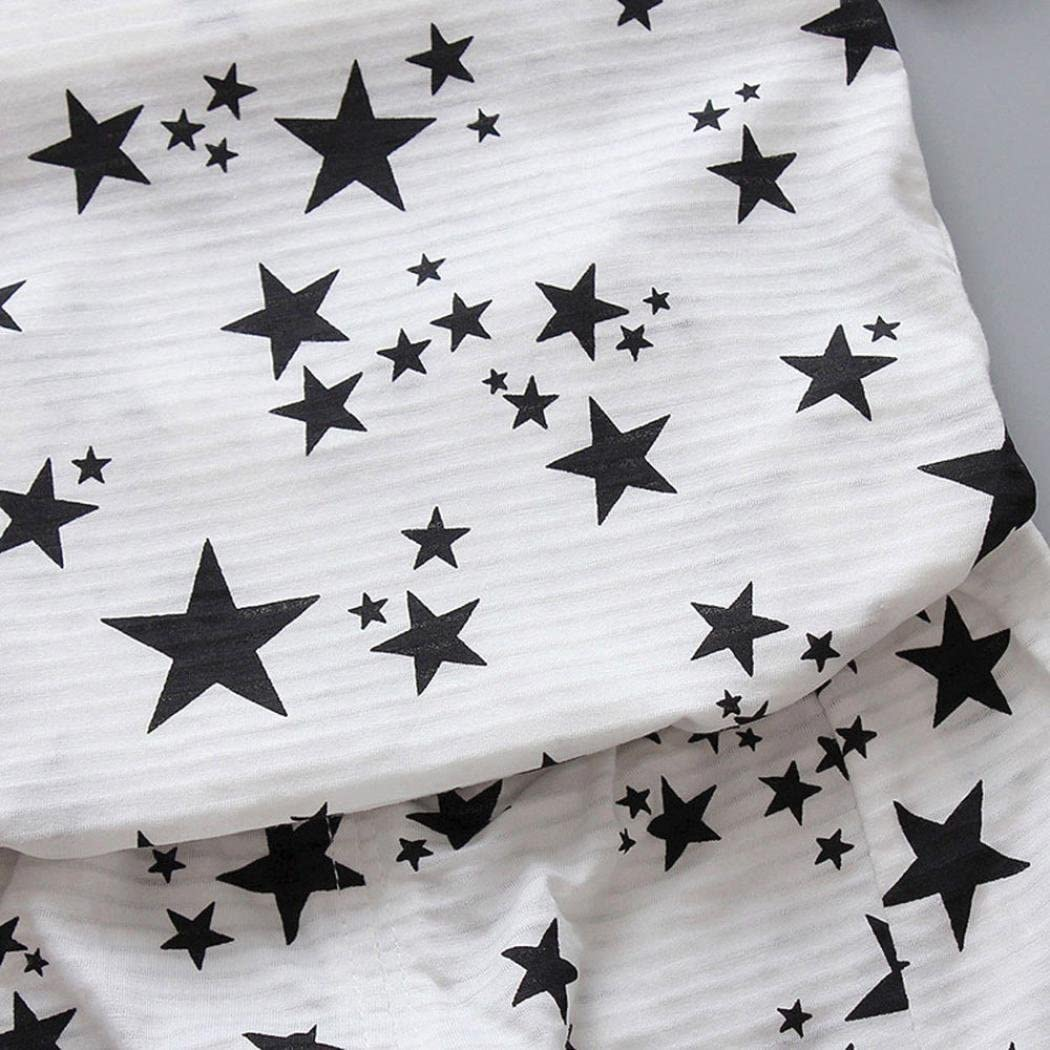 DIGOOD for 1-4 Years Old,Toddler Baby Boys Stars Print T-Shirt+Shorts,Children 2Pcs Stylish Outfits Summer Clothes Sets