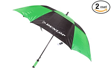 Dunlop 60 Inch Double Canopy Golf Umbrella, Colors May Vary, 2-Pack