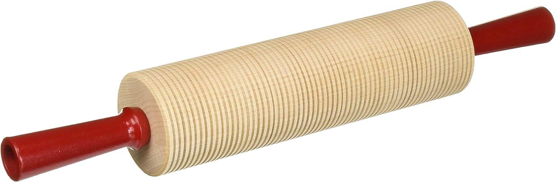 Amazon Com Bethany Housewares Wood Rolling Pin Corrugated Bulk Lefse Rolling Pin Kitchen Dining