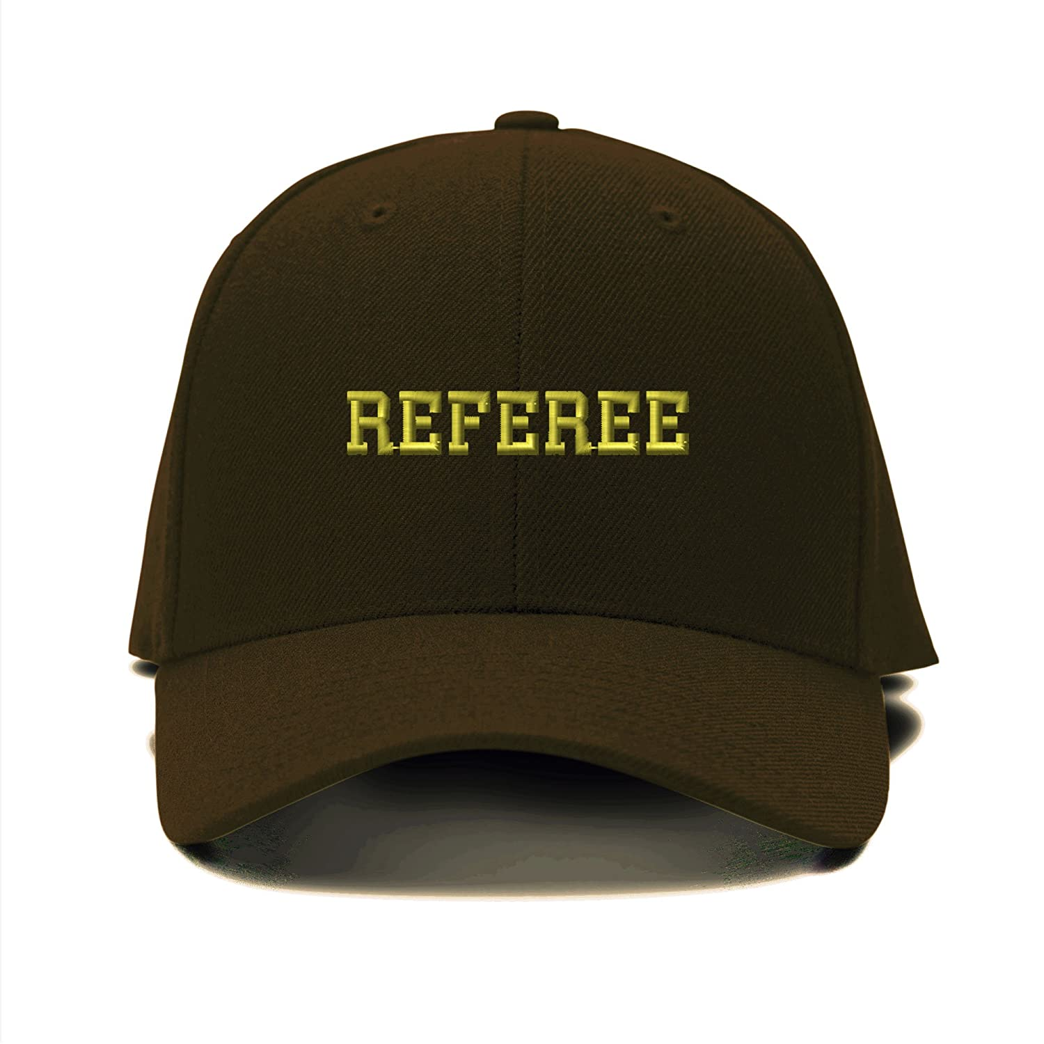 54bdbe44c02 Amazon.com  Speedy Pros Referee Soccer Football Embroidery Adjustable  Structured Baseball Hat Brown  Clothing