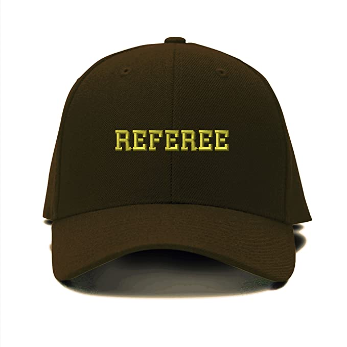 c48865eeb17 Image Unavailable. Image not available for. Color  Speedy Pros Referee  Soccer Football Embroidery Adjustable Structured Baseball Hat Brown