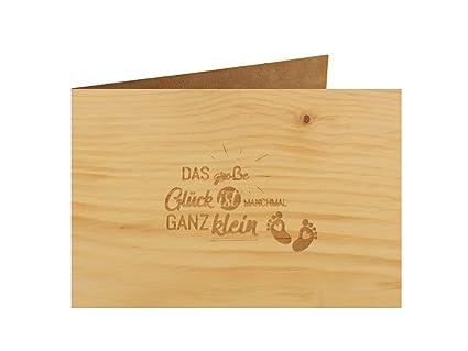 Holzgrußkarte Taufe Baby Geburt 100 Handmade In österreich Postkarte Glückwunschkarte Geschenkkarte Grußkarte Klappkarte Karte Einladung