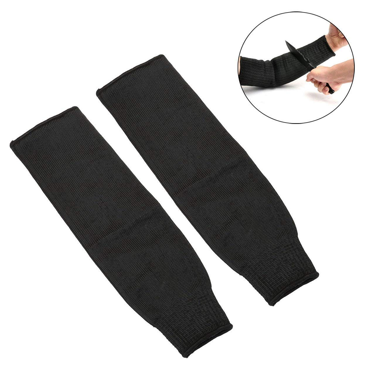 CozyCabin Cut Resistant Sleeves Steel Wire Arm Protection Sleeves Outdoor Self-defense Arm Guard