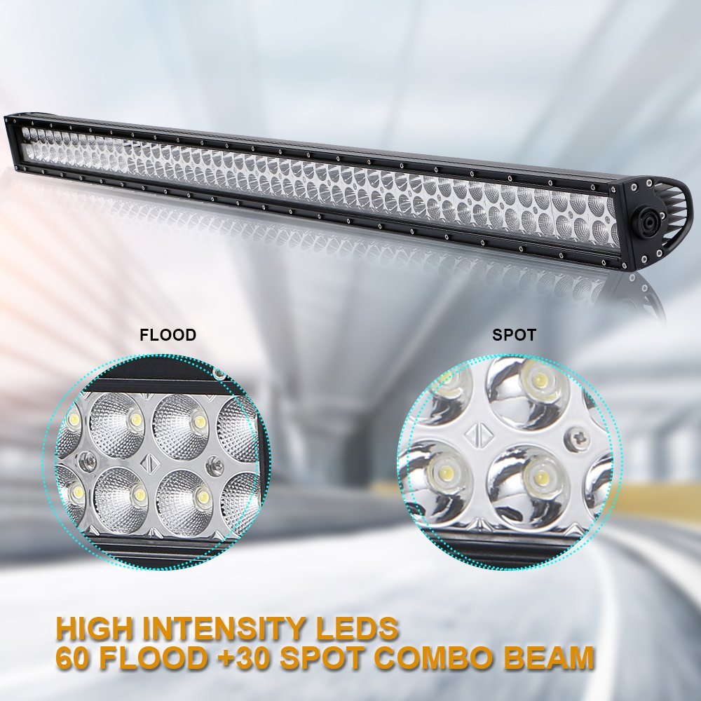 4xbeam 52 Inch Led Light Bar 300w 28000lm Spot Flood Combo Work Wiring Off Road Lights Jeep Wrangler Jk