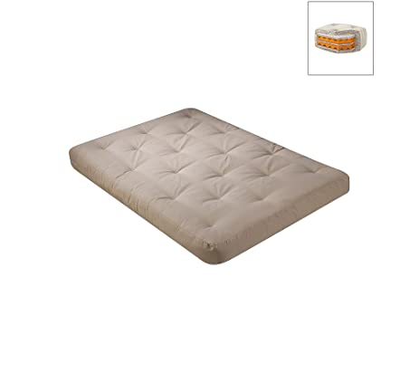 wolf usf 4 8 inch futon mattress with 2 5 inch finger foam in khaki   amazon    wolf usf 4 8 inch futon mattress with 2 5 inch finger      rh   amazon