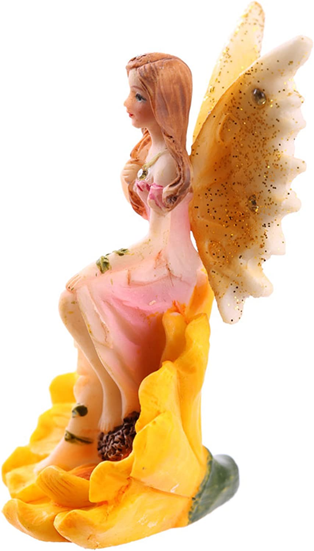 Set of 4 Flower Fairies Garden or Home Ornament Enchanted Fairy Figures