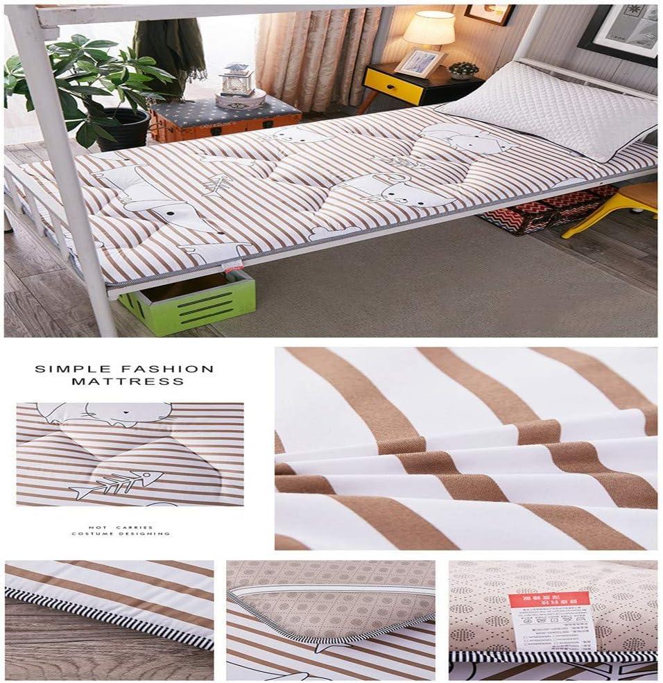 HXDP Thicken Tatami Mattress Foldable Floor Mattress Mat Non-Slip Anti-mite Futon Mattress Topper Double Single Futon Mat Pad Student Dormitory Mattress