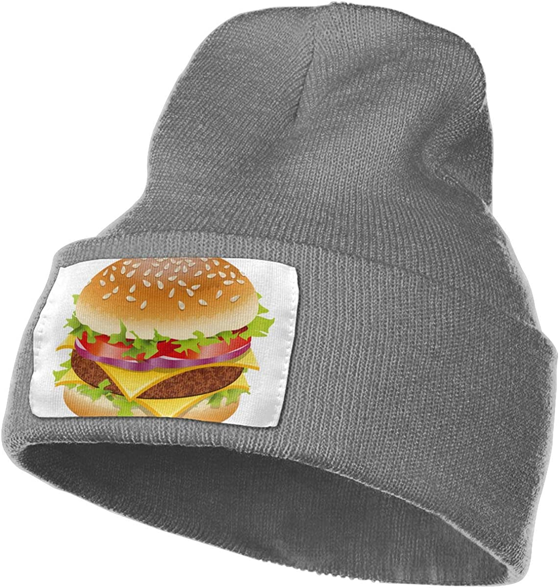 QZqDQ Funny Burger Unisex Fashion Knitted Hat Luxury Hip-Hop Cap