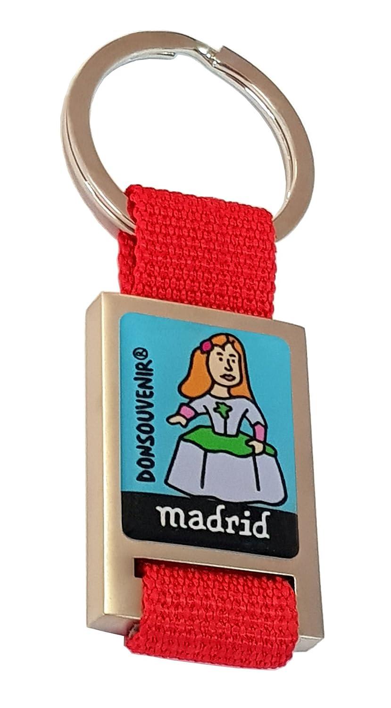 LLAVERO MADRID DONSOUVENIR. MODELO: MENINA. KEYRING MADRID ...