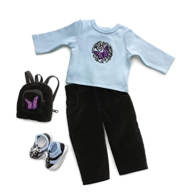 "Blue Butterfly School Outfit & Accessories - Fits 18"" American Girl Dolls: Toys & Games"