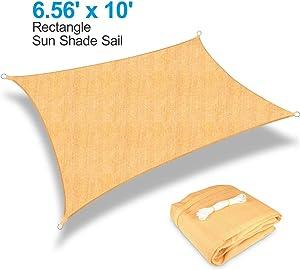 Kupton 6.56' x 10' Sun Shade Sail Rectangle Canopy Awning Sun Cover, 95% UV Block Sunshade Sails, Water & Air Permeable, Perfect for Outdoor Patio Balcony Backyard Yard Carpark Swimming Pool Garden