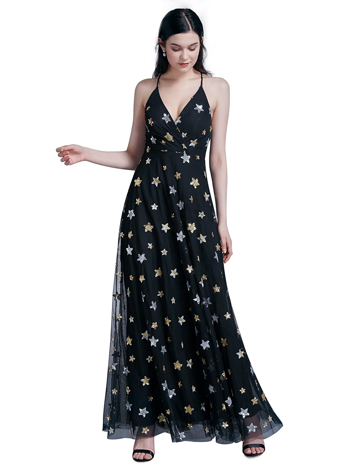 3fed25e7374 Ever-Pretty Women Flower Printed Vneck Sleeveless Evening Dresses 07334 at Amazon  Women s Clothing store