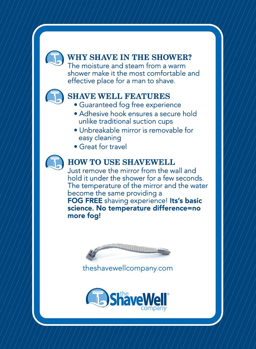 My only thing would be that i probably would have made the mirror - Amazon Com Deluxe Shave Well Fog Free Shower Mirror Made In The Usa 33 Larger Than The Original Shave Well Anti Fog Shower Mirror Home Kitchen