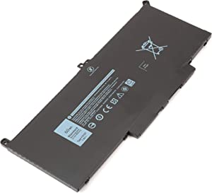 7.6V 60Wh F3YGT Laptop Battery for Dell Latitude 12 7000 7280 7290/13 7000 7380 7390 P29S002/14 7000 7480 7490 P73G002 Series DM3WC DM6WC 2X39G KG7VF V4940 451-BBYE 453-BBCF 4-Cell